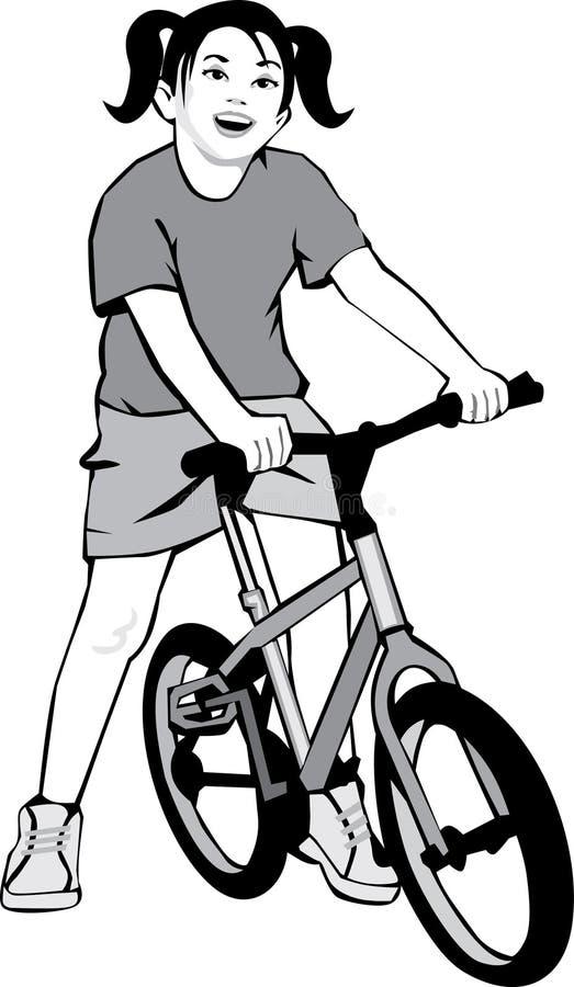 Girl Riding Bike Royalty Free Stock Image