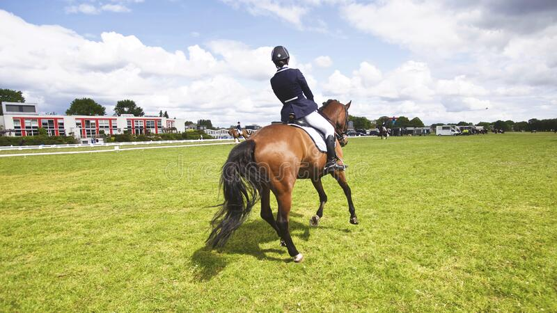 Girl riding horse royalty free stock images