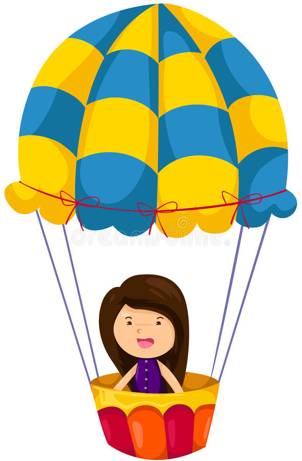 Download Girl Riding Hot Air Balloon Stock Vector - Image: 21820349