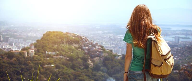 Girl at the Rio de Janeiro royalty free stock photo