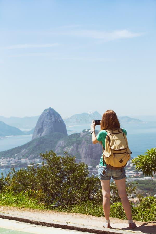 Girl at the Rio de Janeiro royalty free stock images
