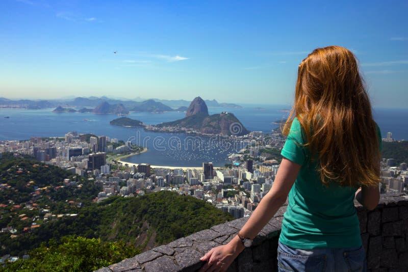 Girl at the Rio de Janeiro stock photography