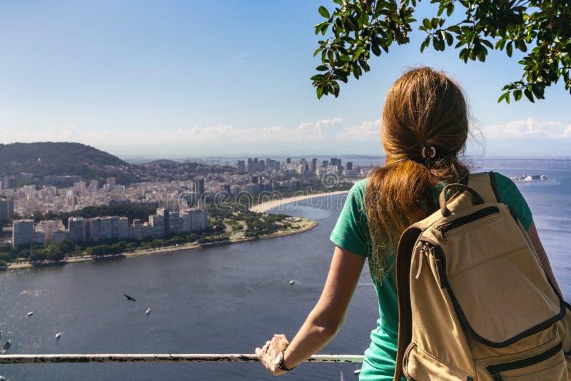 Girl at the Rio de Janeiro stock photo