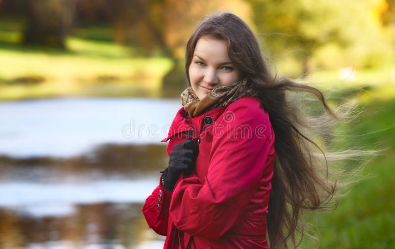 Download Girl on River Shore stock photo. Image of photo, beauty - 22335606