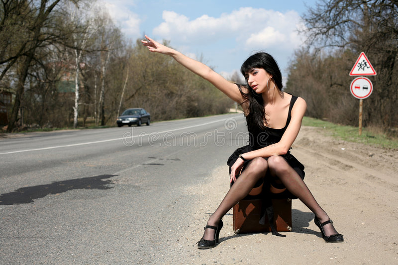 Download Girl in the road stock image. Image of fresh, girl, lady - 8300601