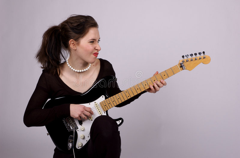 Download Girl Rock stock image. Image of rockstar, woman, music - 910099