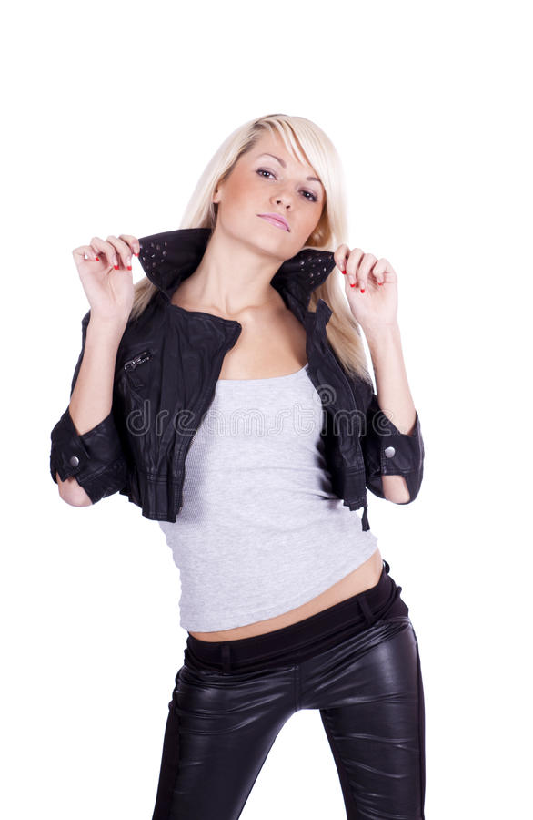 Girl rock chic royalty free stock photography