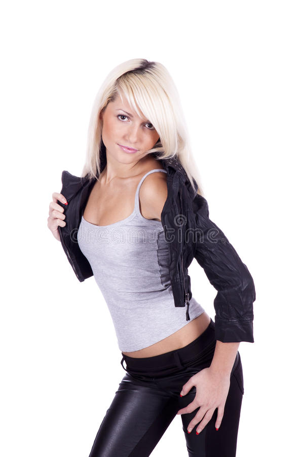 Girl rock chic royalty free stock image