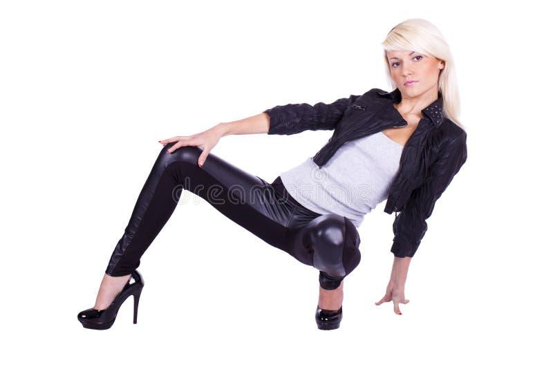 Girl rock chic royalty free stock photo