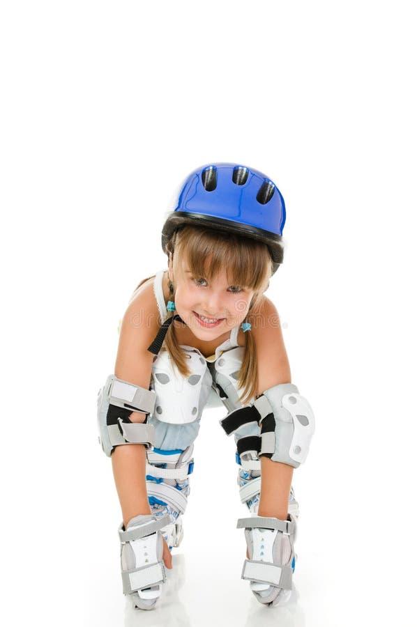 Girl roller stock photography