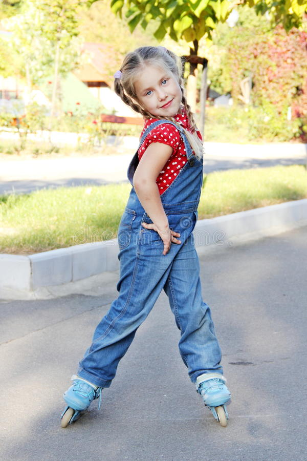 Download Girl Roller Skating Portrait Royalty Free Stock Photography - Image: 21556787