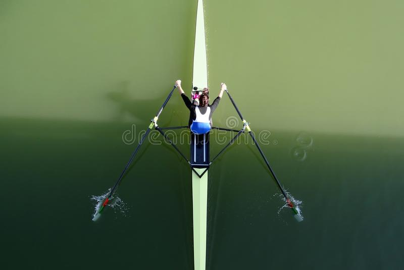 Canoe rowing sport stock images