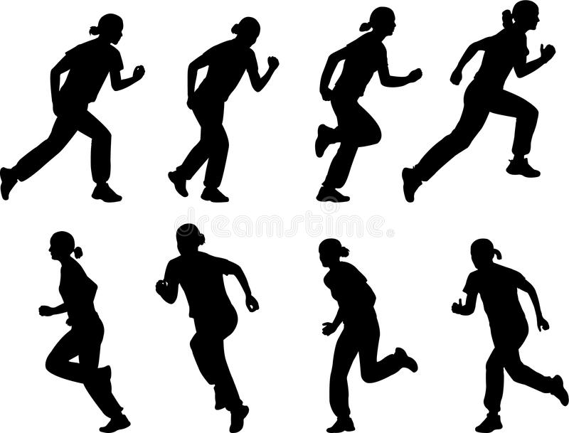 Download Girl running stock vector. Image of body, sport, competition - 9903197