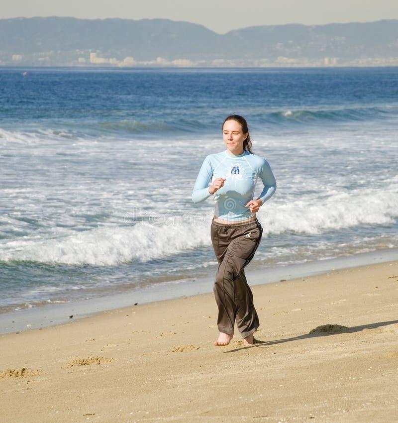 Free Girl Running At The Beach Stock Photo - 12197350