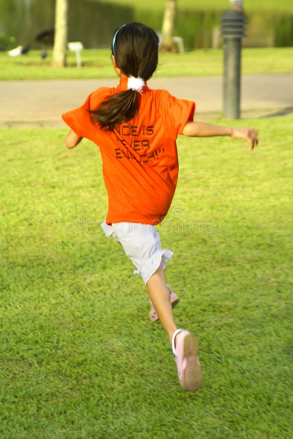 Download Girl running in park stock image. Image of training, dash - 2484017