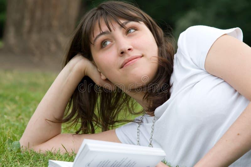 Download Girl's book dreams stock image. Image of female, caucasian - 2695625