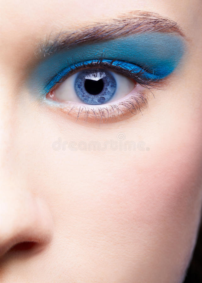Girl S Eye-zone Makeup Royalty Free Stock Images