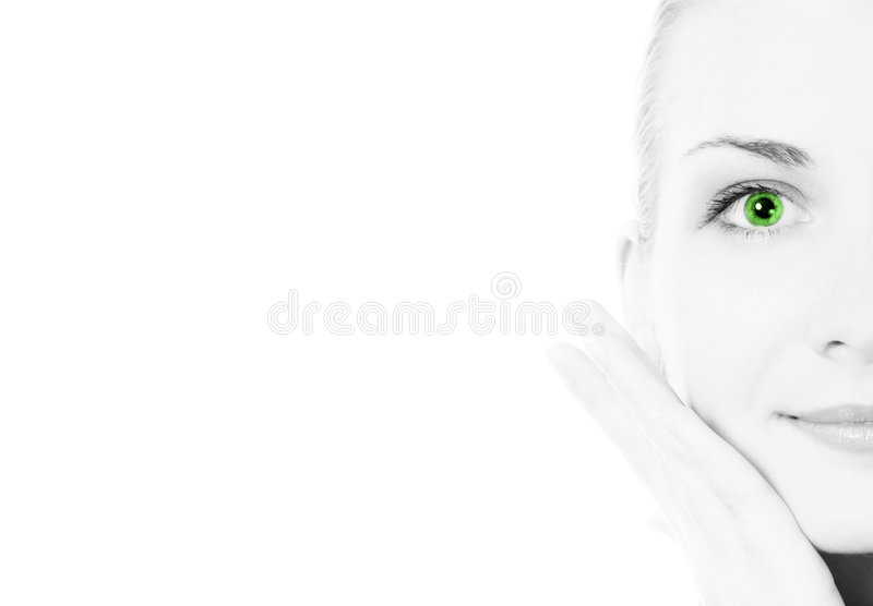 Girl's face royalty free stock images