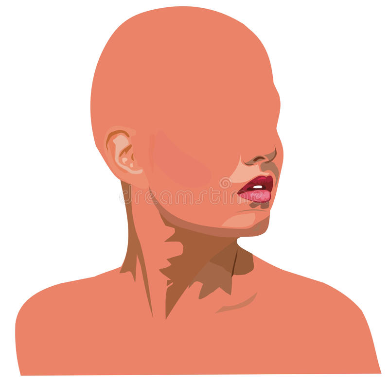 Download Girl's face without eyes stock vector. Image of female - 41449349
