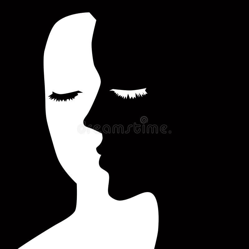 The Girl S Face Optical Illusion Portrait Stock Vector Illustration Of Glamorous Opticalillusionportrait 83424461