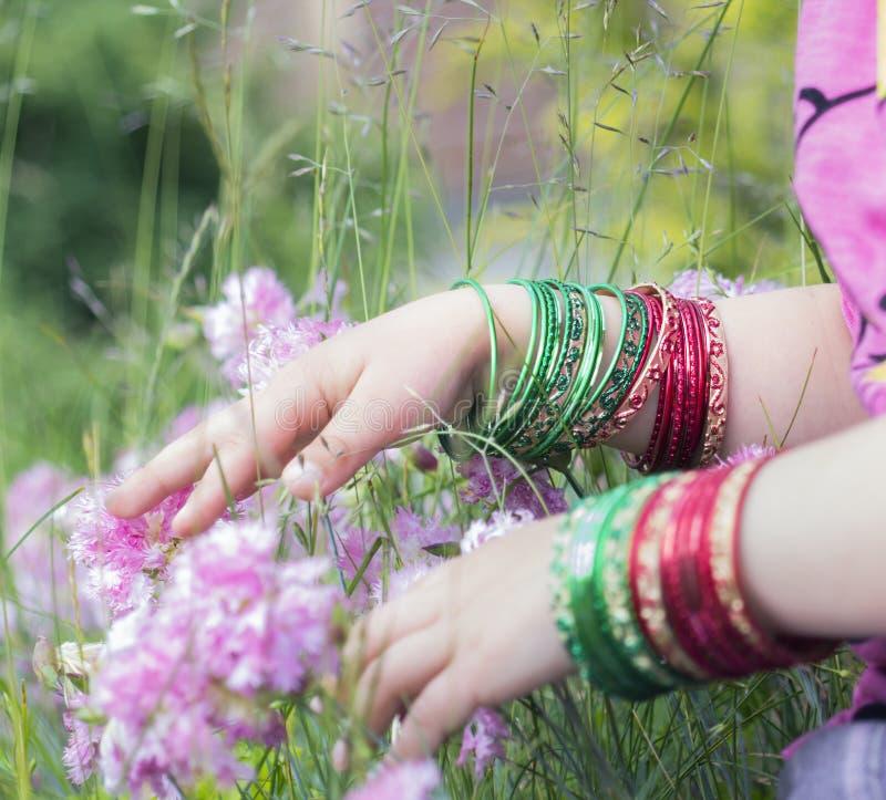 Girl\'s Hands With Bracelets Stock Image - Image of femininity ...