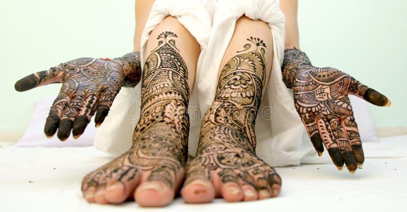 Mehendi Ceremony S Free Download : Girl`s show mehandi design in wedding stock photo image of