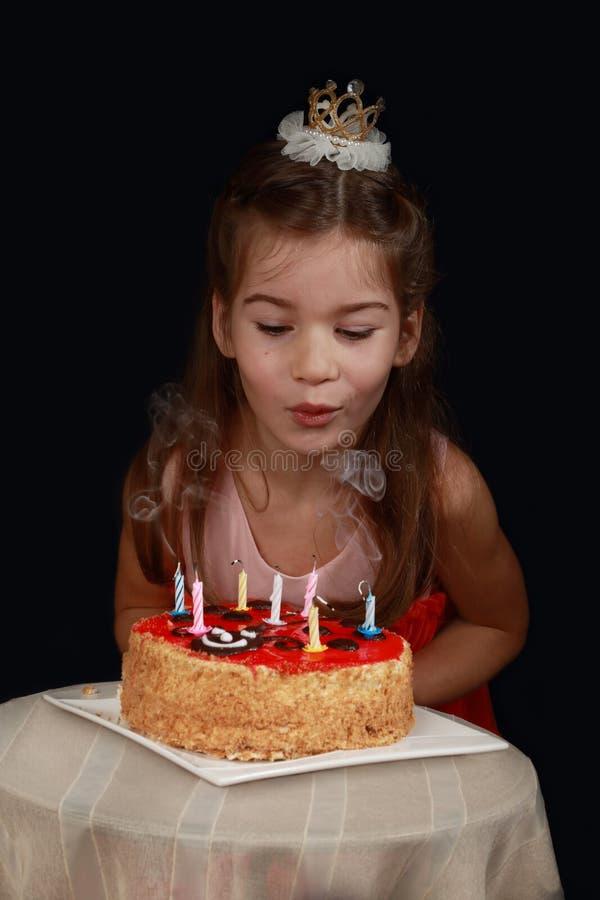 Girl& x27; s verjaardag stock afbeelding