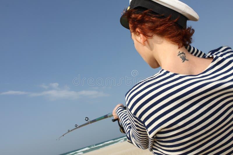 Download Girl Sailor stock image. Image of beach, woman, figure - 23886683