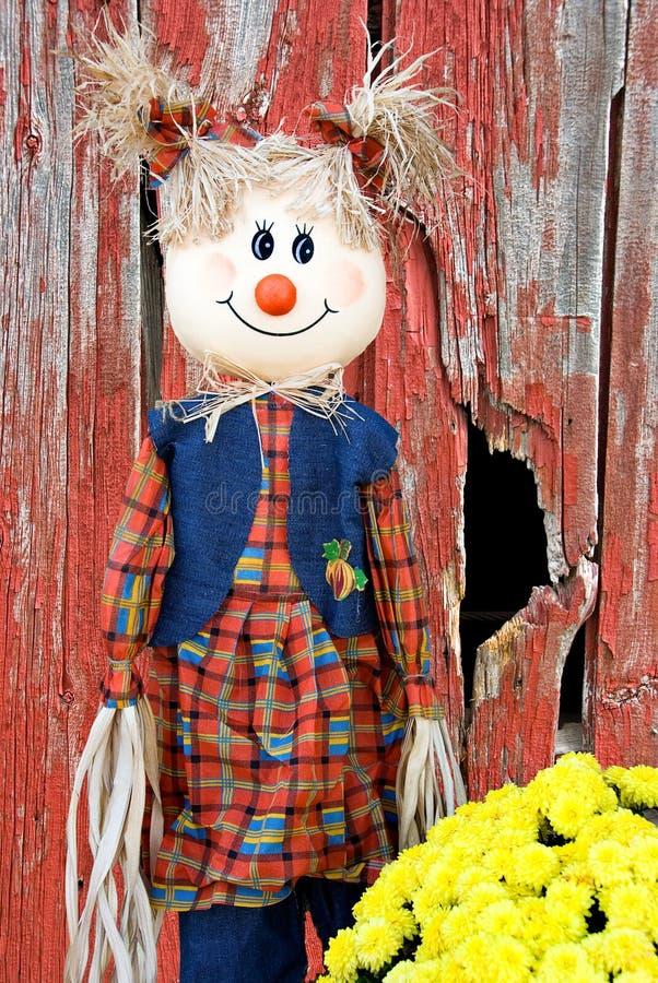 Girl Scarecrow stock photos