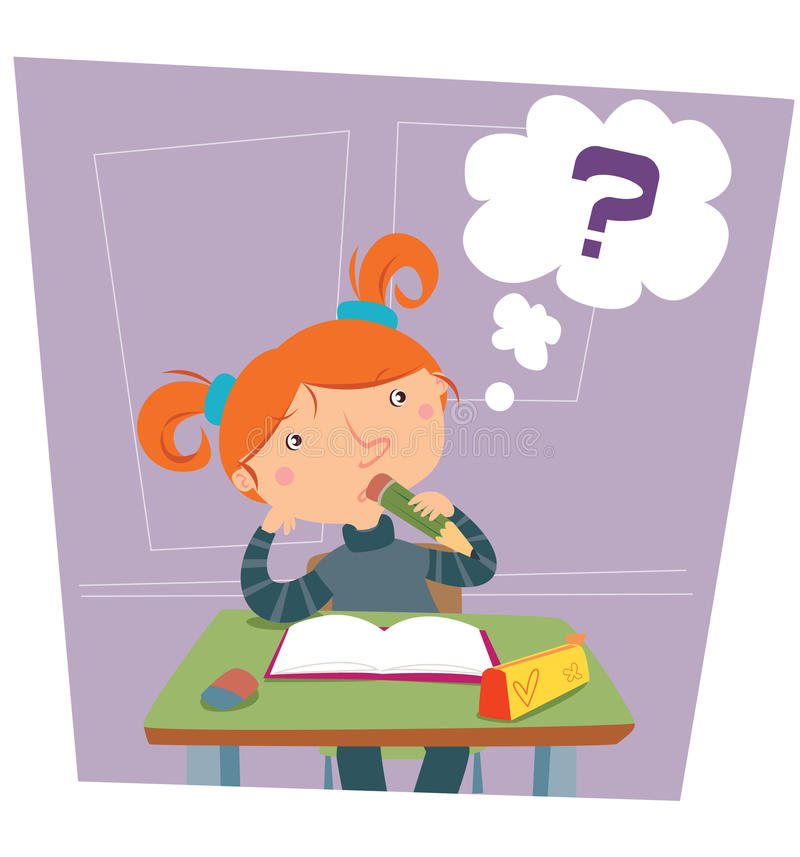 Download Girl at school stock illustration. Illustration of lessons - 12455567