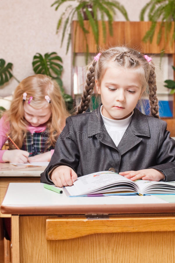Girl in school royalty free stock photo