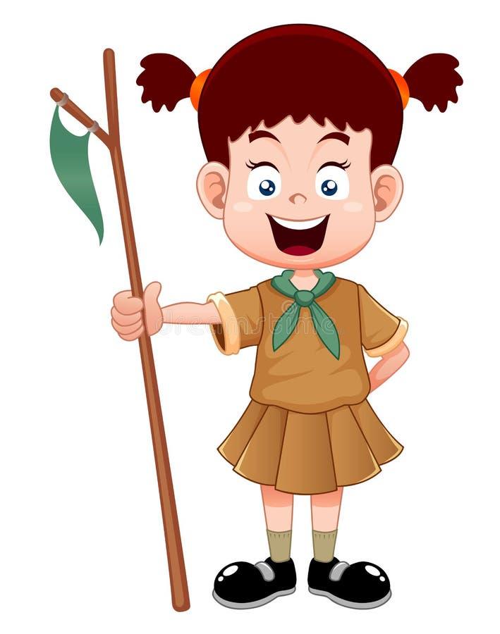 Girl-scout royalty illustrazione gratis