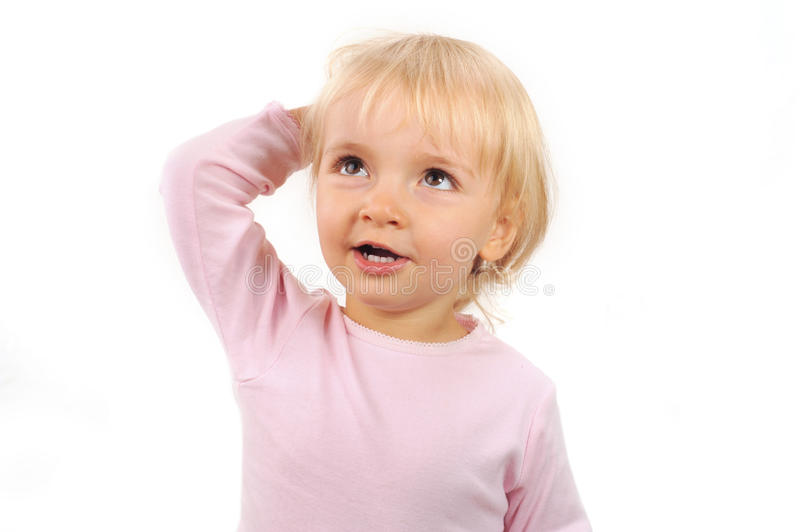 Download Girl scratching hers head stock photo. Image of cheerful - 11211142