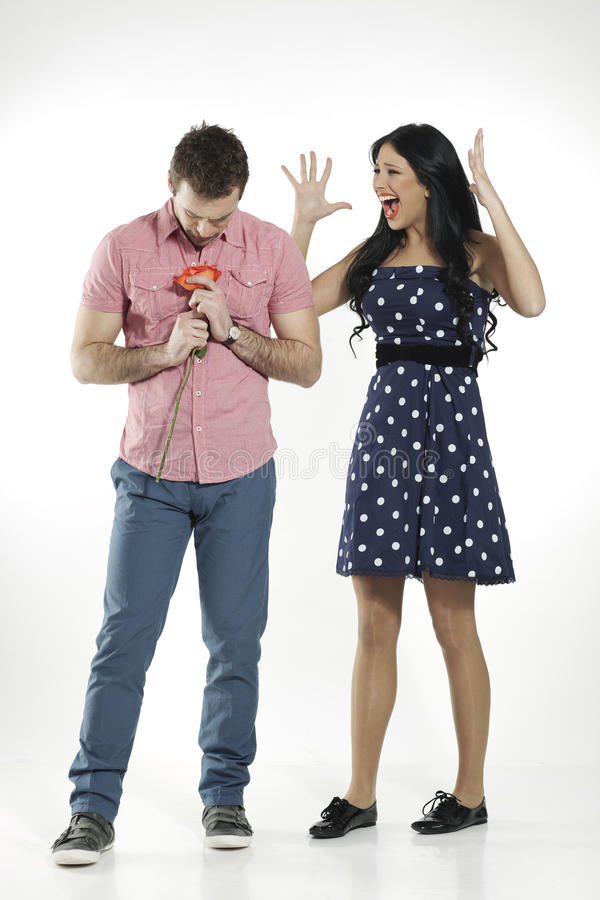 Download Girl Screaming At Her Boyfriend Stock Image - Image: 20360113