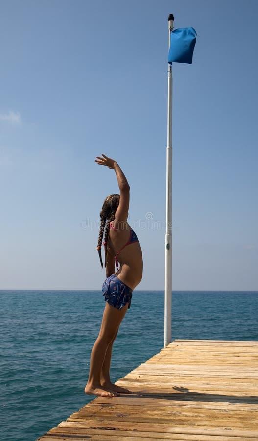 Girl At The Sea. Free Stock Image