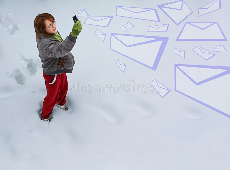 Download Girl sending emails stock photo. Image of caucasian, sends - 8205112