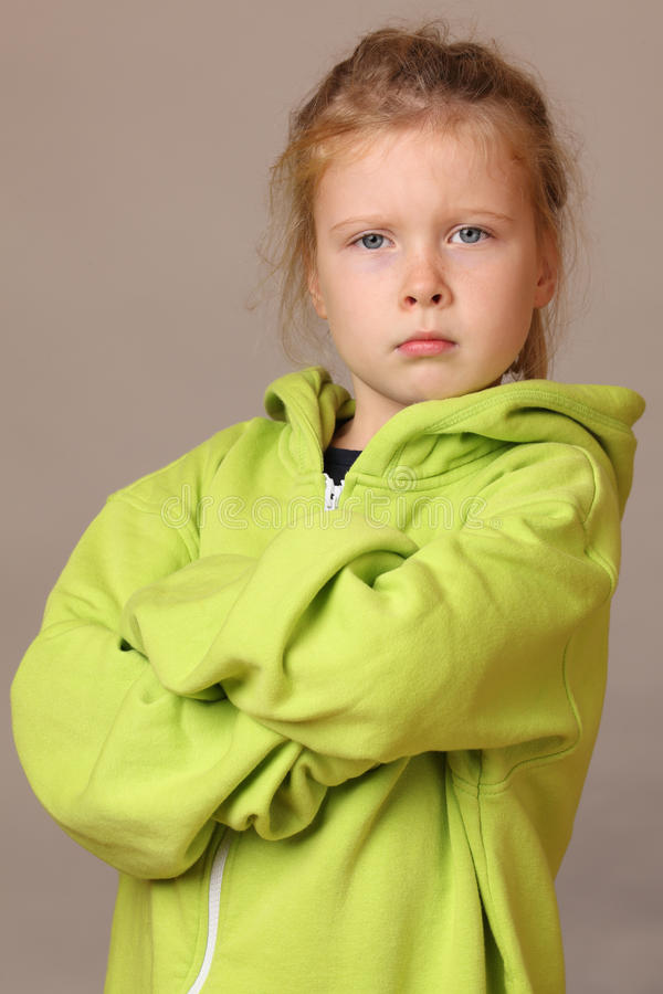 girl serious young στοκ φωτογραφία με δικαίωμα ελεύθερης χρήσης