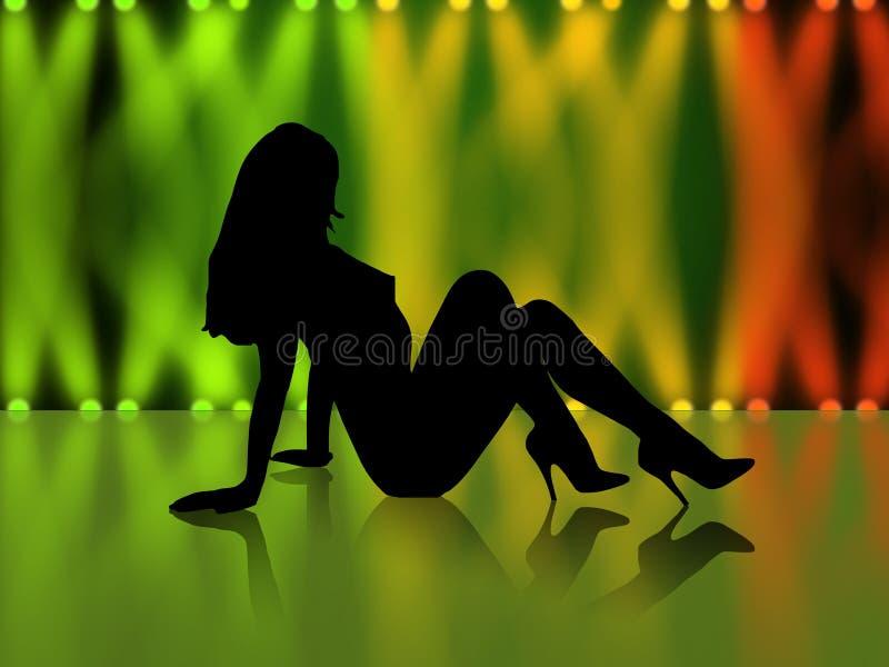 girl sexy silhouette απεικόνιση αποθεμάτων