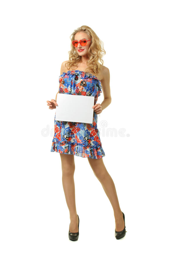 Girl with sheet of paper