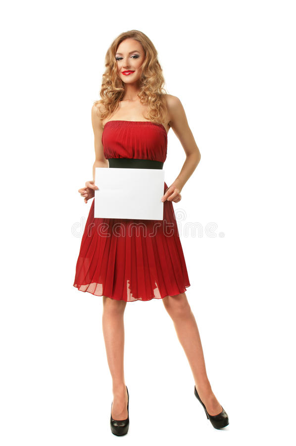 Download Girl with sheet of paper stock image. Image of caucasian - 28164791