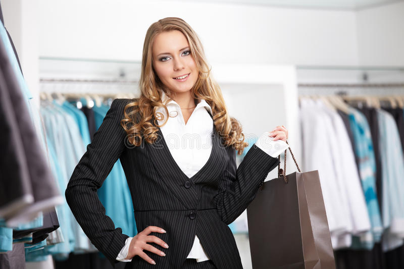 The Girl In Shop Royalty Free Stock Photo
