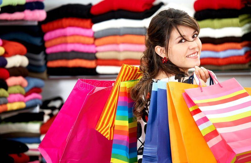 Download Girl shopping stock image. Image of mall, attractive, lifestyle - 4110089