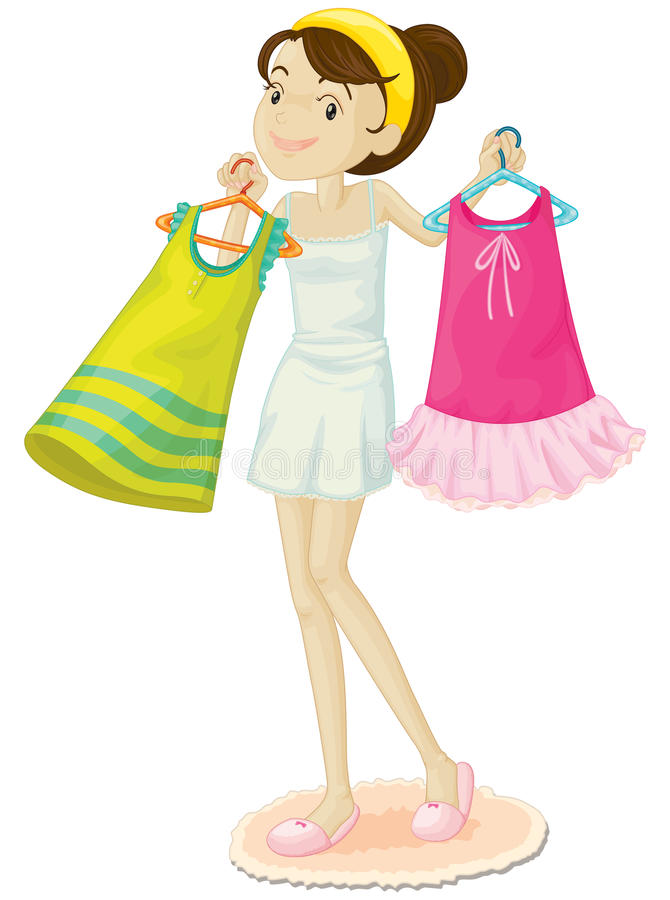 Download Girl shopping stock vector. Image of retail, design, shopping - 9534528