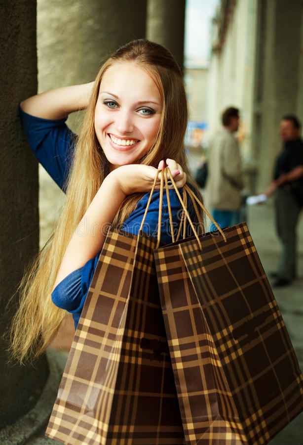Download Girl With Shopping Bags Royalty Free Stock Photos - Image: 11840898