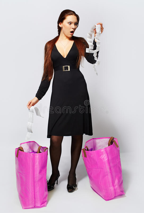 Download Girl with shopping bags stock image. Image of female - 14053439