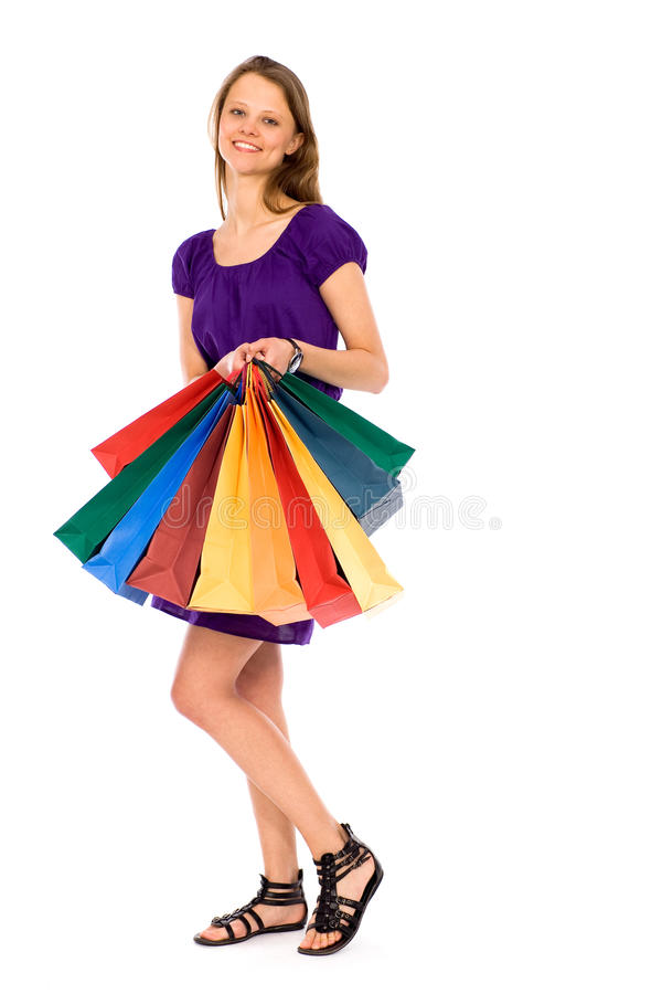 Download Girl With Shopping Bags Stock Images - Image: 18931734