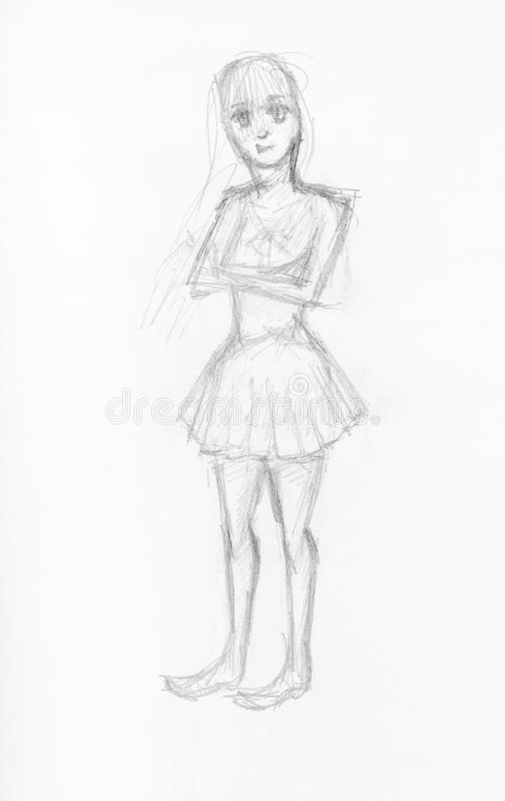 Sketch Girl Short Dress Stock Illustrations 1 538 Sketch Girl Short Dress Stock Illustrations Vectors Clipart Dreamstime