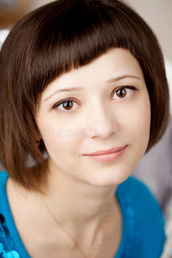Girl With Short Hair Stock Image Image Of Female, Adult -4703