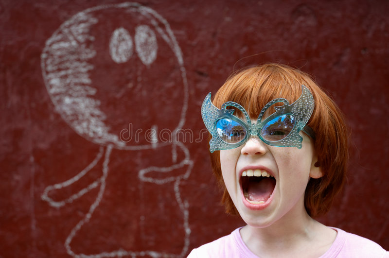 Download The girl shouts stock image. Image of anger, daughter - 5701837