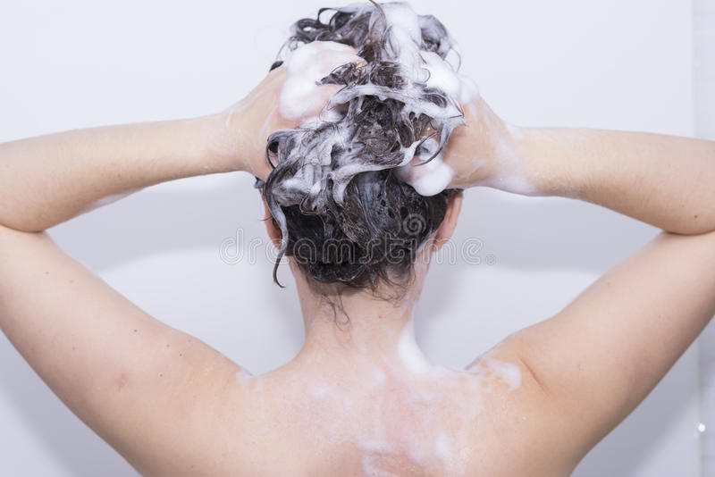 Download Girl in the shower. stock photo. Image of sanitation - 62235974
